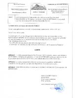 Arrêté permanent interdiction stationnement Rue F BUCCHIANERI